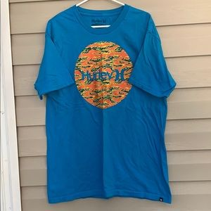 Hurley blue&orange short sleeve tee shirt